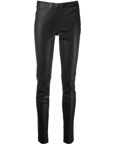 Облегающие кожаные черные брюки Arma