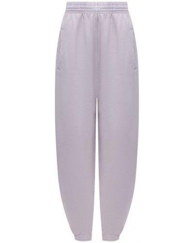 Фиолетовые хлопковые брюки Agolde