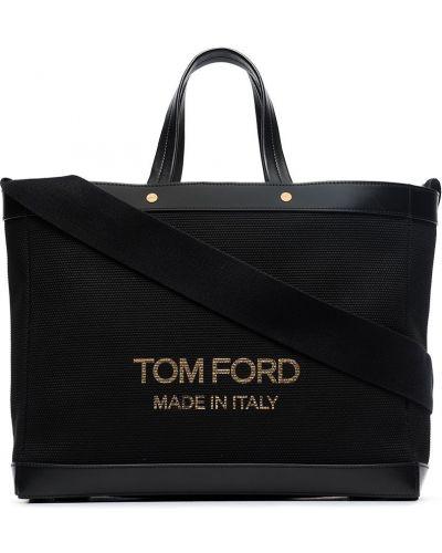Черная сумка тоут Tom Ford