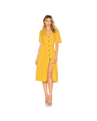 Платье с поясом на пуговицах с карманами Astr The Label