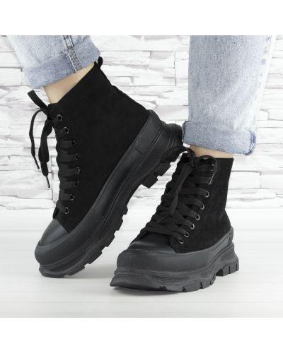 Ботинки на шнуровке - черные Violeta