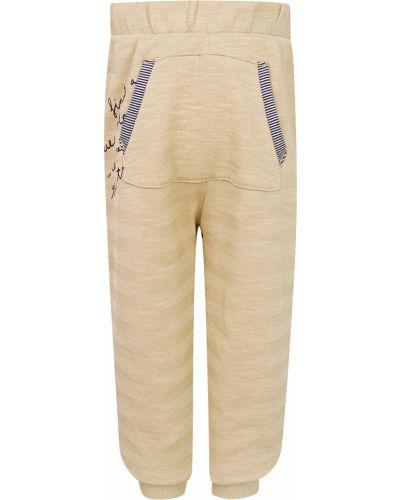 Хлопковые бежевые спортивные брюки Original Marines