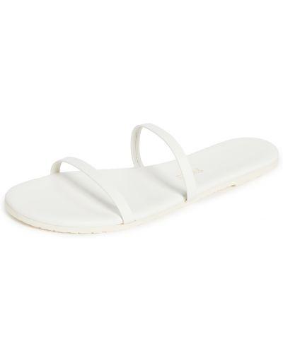 Sandały skorzane peep toe Tkees