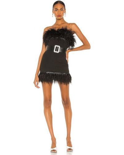 Черное платье мини с поясом с декольте Bronx And Banco