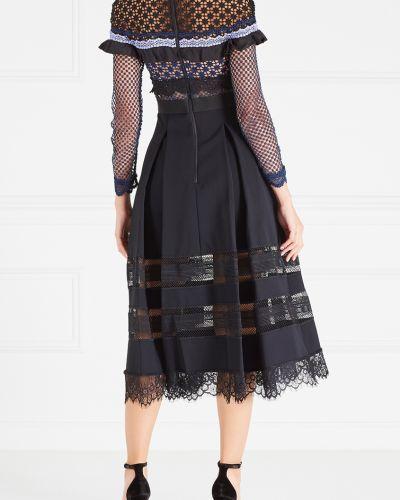 Платье с вышивкой на молнии Self-portrait