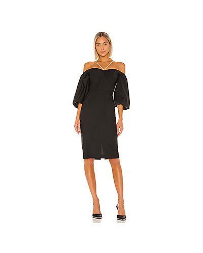 Черное платье миди на бретелях Anouki