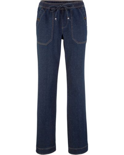 Широкие джинсы синие темно-синий Bonprix