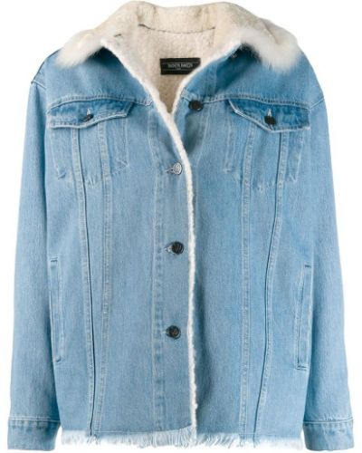 Синяя джинсовая куртка на пуговицах Simonetta Ravizza