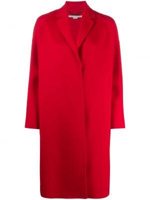 Красное шерстяное длинное пальто с запахом Stella Mccartney