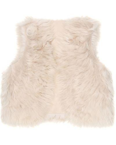 Кожаная классическая белая жилетка Bonpoint