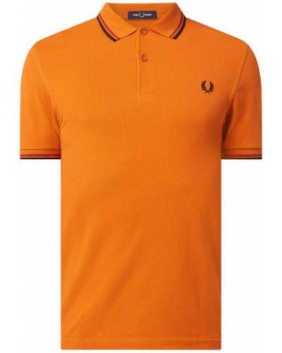Pomarańczowy t-shirt bawełniany Fred Perry