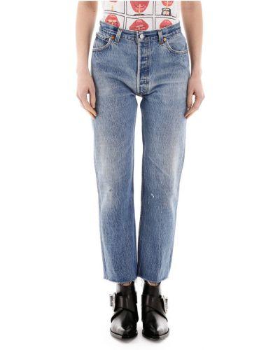 Niebieskie jeansy zapinane na guziki Re/done