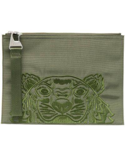 Nylon zielony torba kosmetyczna z łatami Kenzo
