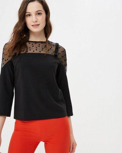 Блузка с коротким рукавом черная Gepur