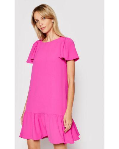 Różowa sukienka koktajlowa Dkny