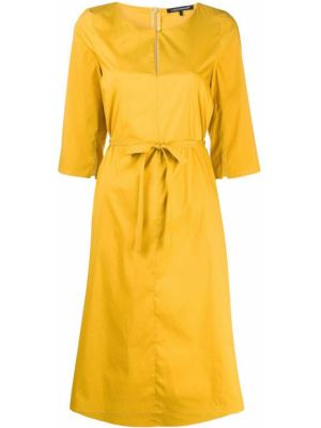 Хлопковое платье миди - желтое Luisa Cerano