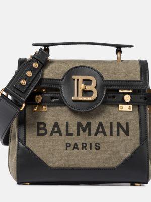 Zielona torebka skórzana Balmain