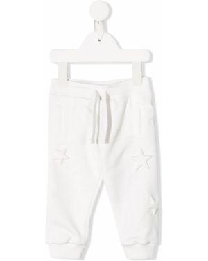 Sportowe spodnie z kieszeniami białe Dolce & Gabbana Kids
