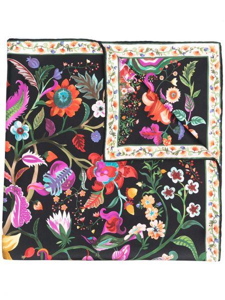 Шелковый платок - черный Salvatore Ferragamo