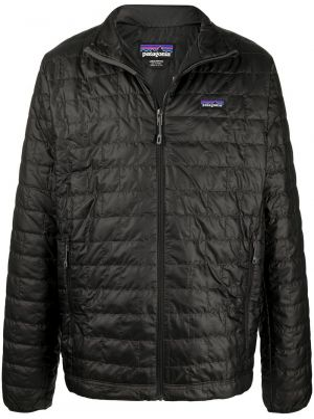 Облегченная черная длинная куртка с заплатками с длинными рукавами Patagonia