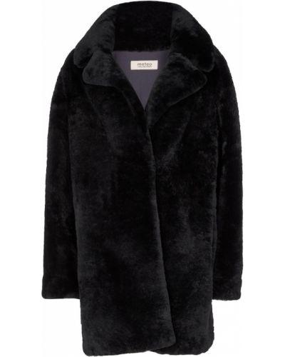 Черное французское пальто Yves Salomon
