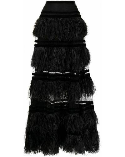 Юбка с завышенной талией - черная Elie Saab