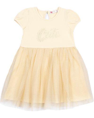 Платье с сеткой хлопковое Cherubino