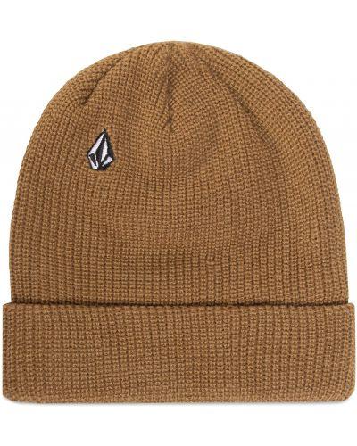 Brązowa czapka z akrylu Volcom