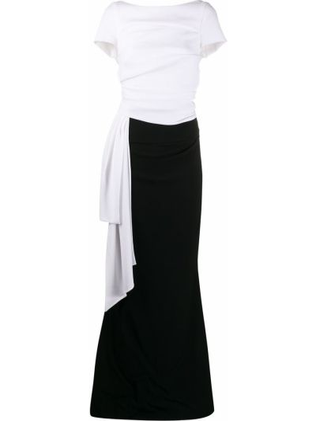 Черное платье мини на молнии с вырезом с короткими рукавами Talbot Runhof