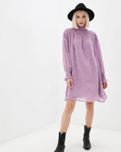 Прямое платье - фиолетовое Ichi