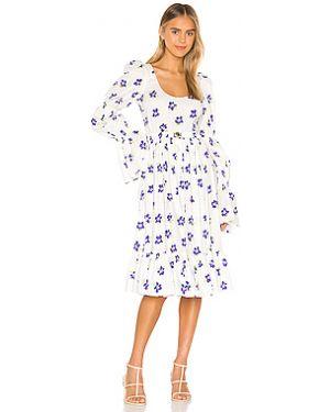 Платье миди из поплина с поясом Caroline Constas