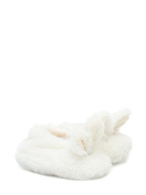 Тапочки белые теплые Bonpoint