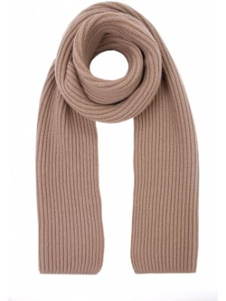 Коричневый вязаный кашемировый классический шарф вязаный Malo