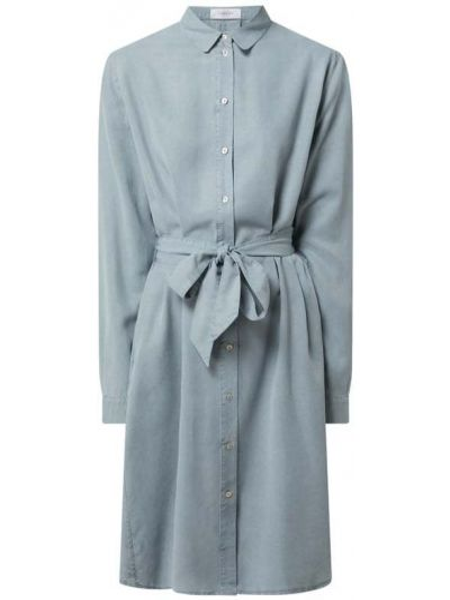 Sukienka rozkloszowana z długimi rękawami - niebieska Blonde No. 8