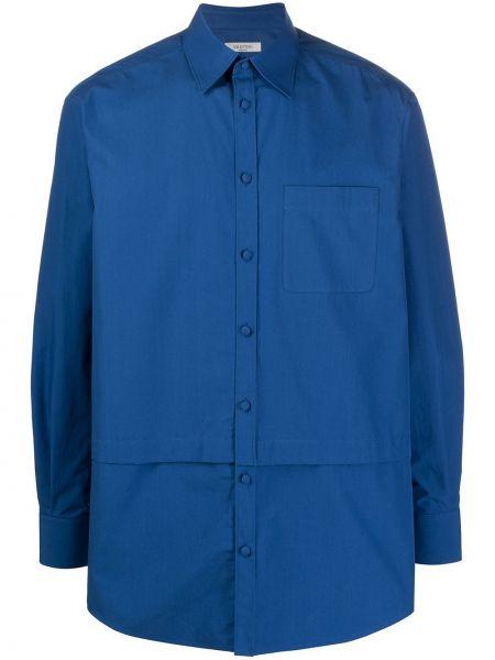 Koszula z długim rękawem długa niebieski Valentino