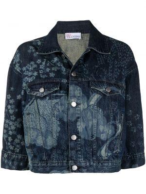 Хлопковая джинсовая куртка - синяя Red Valentino