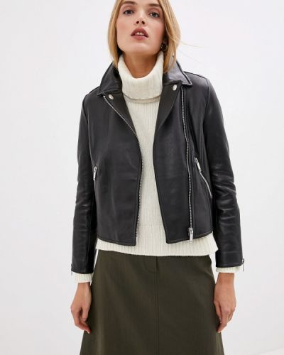 Кожаная куртка черная осенняя Weekend Max Mara