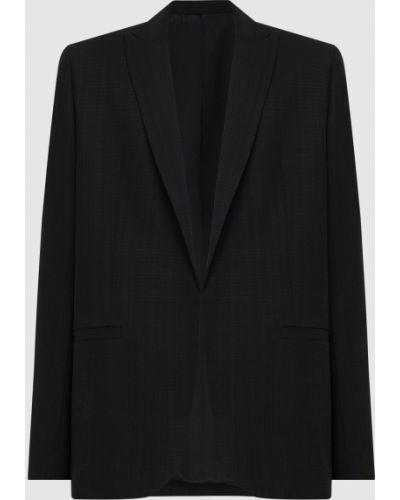Черный пиджак в клетку жаккардовый Toteme