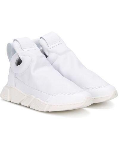 Кожаные белые кроссовки без застежки Cinzia Araia Kids