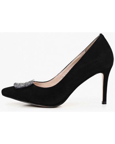 Велюровые черные туфли-лодочки Dino Ricci