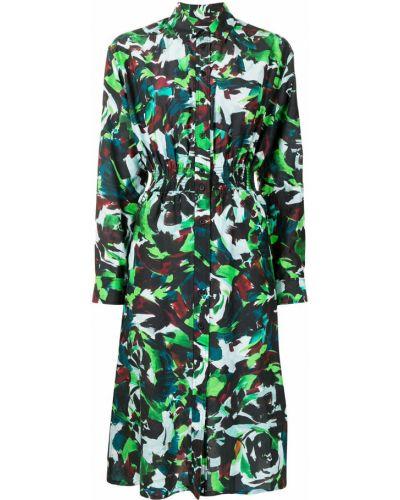 Шелковое платье миди Kenzo