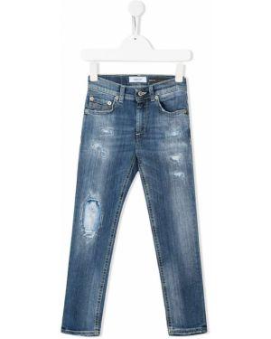 Кожаные джинсы Dondup Kids