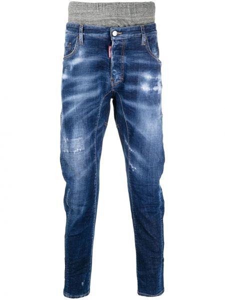Черные джинсы с карманами с заплатками Dsquared2