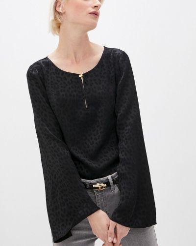 Черная с рукавами блузка Cavalli Class