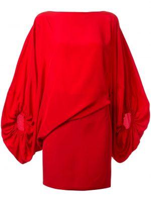 Асимметричное приталенное платье мини с драпировкой на пуговицах Silvia Tcherassi