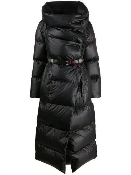 Черное стеганое пуховое длинное пальто Isaac Sellam Experience