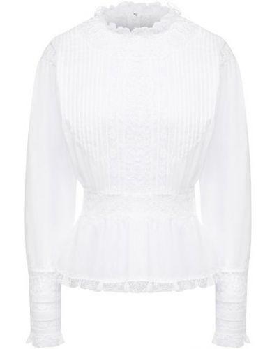 Белая блузка из вискозы Dolce & Gabbana