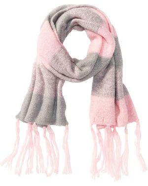 Шарф розовый светло-серый Bonprix