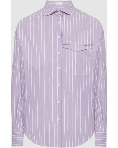 Фиолетовая рубашка Brunello Cucinelli