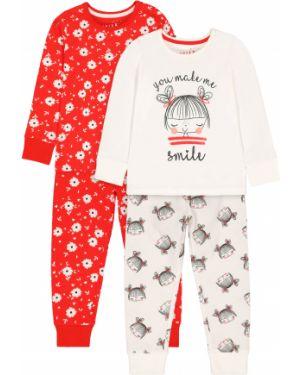 Пижама белая красный Mothercare
